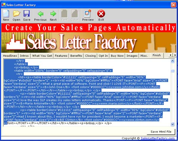 Sales letter factory mini site creator download and install new templates is point and click spiritdancerdesigns Gallery